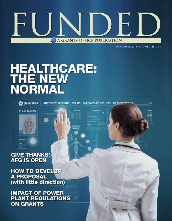 The November issue of Grants Office's FUNDED publication